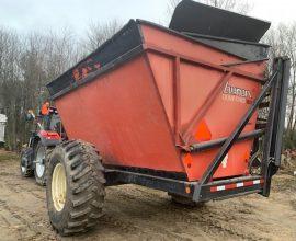 Remorque déchargement latéral 15 tonnes