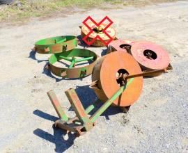 Lot de roues piqueteuses (5)