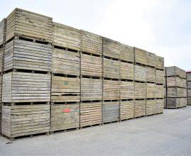 Lot de boîtes de bois