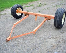 Essieu 2 roues avec conduite